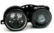 Кристални фарове за БМВ Е30 (87-91) - черни