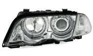Kristalni farovi CCFL Angel Eyes BMW E46 Limuzina (98-01) - hrom