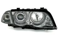 Kristalni farovi Angel Eyes BMW E46 Limuzina (98-01) - hrom