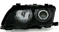 Kristalni farovi Angel Eyes BMW E46 Limuzina (2001-2005) - crni
