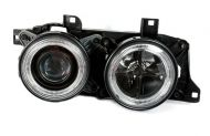 Kristalni farovi Angel Eyes BMW E32 / E34  (89-95) - crni
