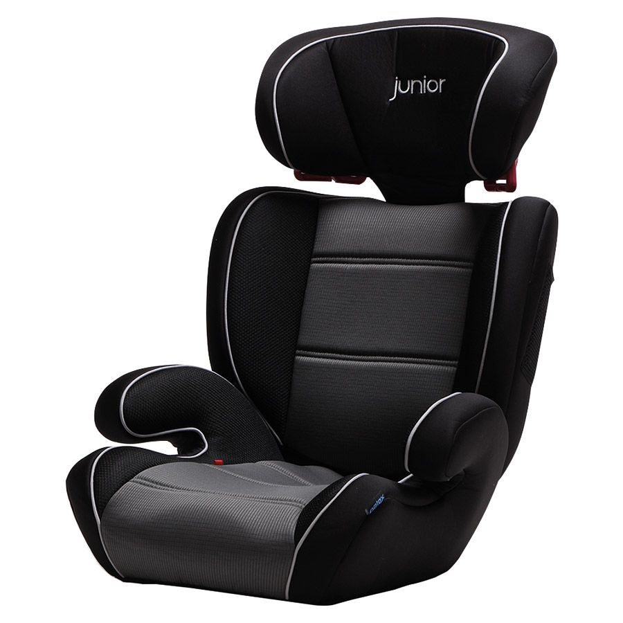 9c4686d1b12 Παιδικό κάθισμα αυτοκινήτου Junior - Basic - μαύρο χρώμα με άσπρες ραφές